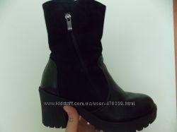 Моднючие ботинки на зиму, натуральная кожа р. 38
