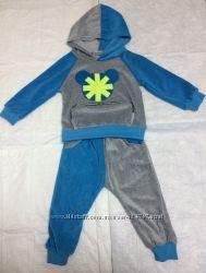 Новые детские велюровые спортивные костюмы, очень мягкие. На 1, 2 и 3 года.