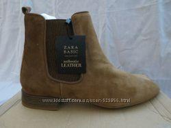 Ботинки ZARA. Натуральный замш