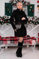 Пальто Мелини 76 зима с натуральным мехом