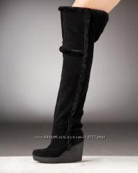 Ботфорты Diane von Furstenberg на натуральной овчине, 40-41 размер