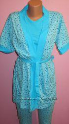 Комплект для дома и сна пижама и халатик