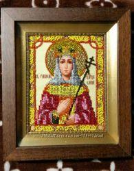 Икона вышитая бисером Св. Елена