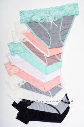 Хлопковое белье с кружевом, S-М-Л-ХЛ, европейское качество