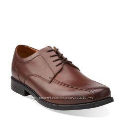 Классические кожаные мужские туфли CLARKS  р. 46-46. 5