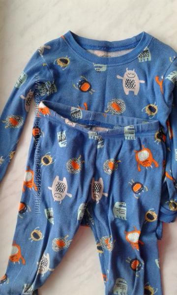Хлопковая пижама CARTERS 3t в отличном состоянии