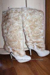 Супер модные обалденные сапоги с мехом снаружи, лабутены, США, 39р.