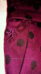 Юбка Эсприт цвет марсала в черный горох