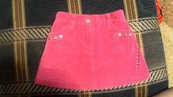 Вельветовая юбка на 2-3 года