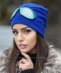 Оригинальная шапка с имитацией очки