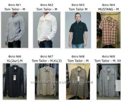 Фирменные мужские рубашки М Tom Tailor, MEXX Нидерланды Оригинал