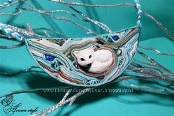 Колье от Akarea style - Белый лис