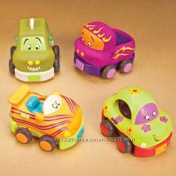Игровой набор  Забавный Автопарк 4 резиновые машинки-погремушкиХит продаж