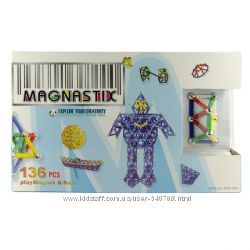 Магнитный 3D конструктор Magnastix 60дет и 136дет