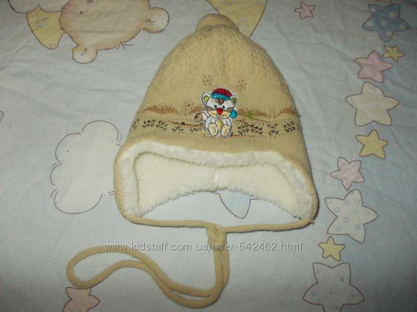 Шапка для малыша до года зима