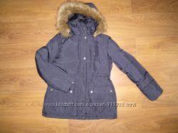 Новая зимняя куртка перо DKNY с капюшоном
