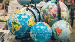 Глобусы физические, политические, Украины
