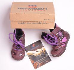 Зимние ботинки для девочки, р. 20, кожа, цигейка, Minimen, Турция