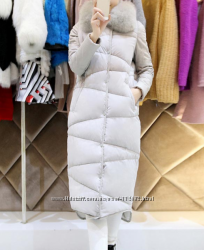 Длинный женский пуховик  пальто, р. S, на рост 155-160 см