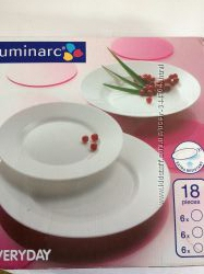 Сервиз столовый LUMINARC EVERYDAY, 18 предметов. Оригинал
