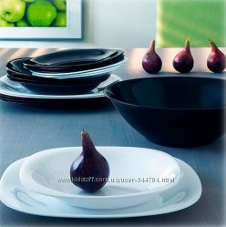 Сервиз столовый LUMINARC CARINE BLACK&WHITE, 19, 30 предметов