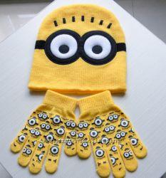 Набор шапка и перчатки Миньон