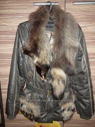 курточка с мехом лисички