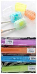 Портативный пластиковый чехол, футляр для зубной щетки, два вида