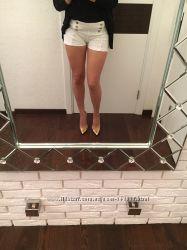 белые шорты SH с высокой талией