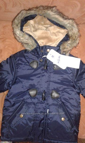 Куртка зимняя на мальчика от Wojcik. 80см
