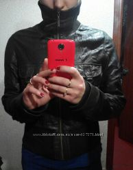 Кожаная куртка Мexx шоколад М ка