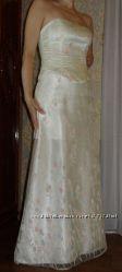 Платье цвета шампанского свадебное  вечернее