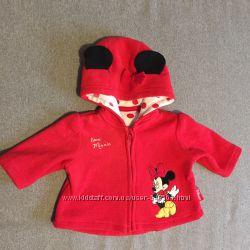 Красная флисовая Кофточка с Минни Маус Disney на весну