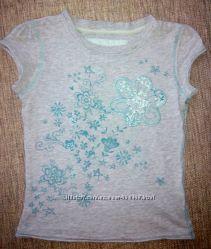 футболка 4-6 лет на рост 110-118 см для девочки