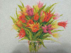 Оформленная  картина Тюльпаны