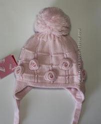Утеплені зимові шапки для дівчаток