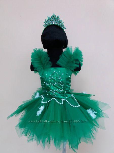Прокат платье, костюм елочки, новогодней елки, ялинки р. 104-116, 122