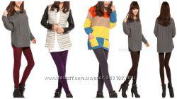 Лосины на флисе женские. Модные яркие цветные. р. 42-50