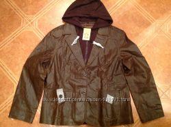 Оригинальная кожаная куртка Tchibo. Размер 44-46 Евро