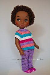 Яркий кукольный костюм и обувь для Дисней Аниматорс
