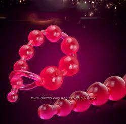 Анальные бусы шарики цепочка силикон
