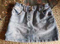 Юбка  джинсовая  , NEXT ,  4-5 лет,  110см ,  в отличном состоянии