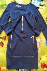 Платье со стилизованным жакетом