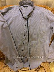 Мужская рубашка с длинным рукавом Zara, Slim Fit, размер 40 М