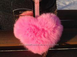 Меховой Сердце - брелок Luxury