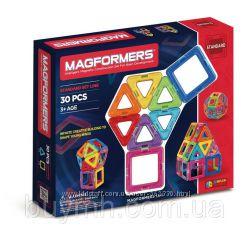 Магнитный конструктор оригинал Магформерс радуга на 30 деталей Magformers