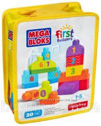Конструктор Мега блокс Учимся считать с цифрами Mega Bloks 1-2-3 в сумочке