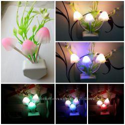 Светодиодный ночник  LED Грибочки с травушкой
