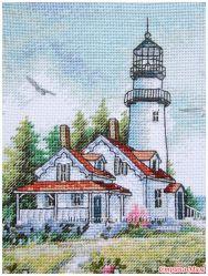 Набор для вышивания крестом Dimensions 65057 Маяк Scenic Lighthouse