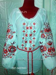 вышиванка -блуза с машинной вышивкой